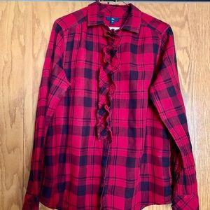 Women's Gap plaid long sleeve blouse